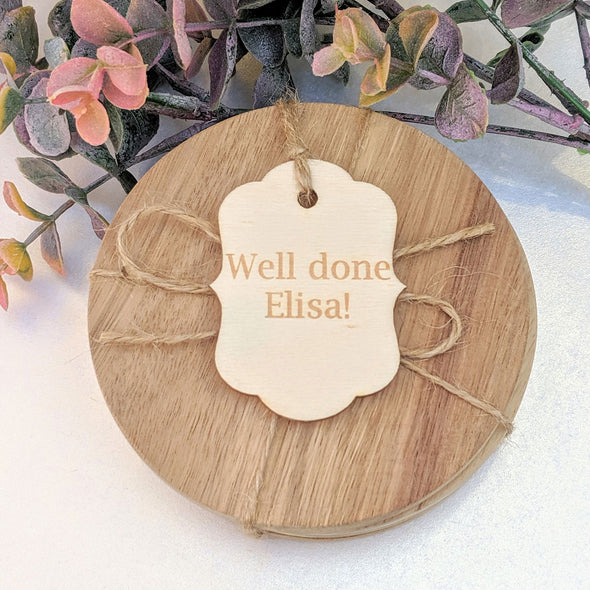 Personalised Wooden Plaque Style Gift Tag