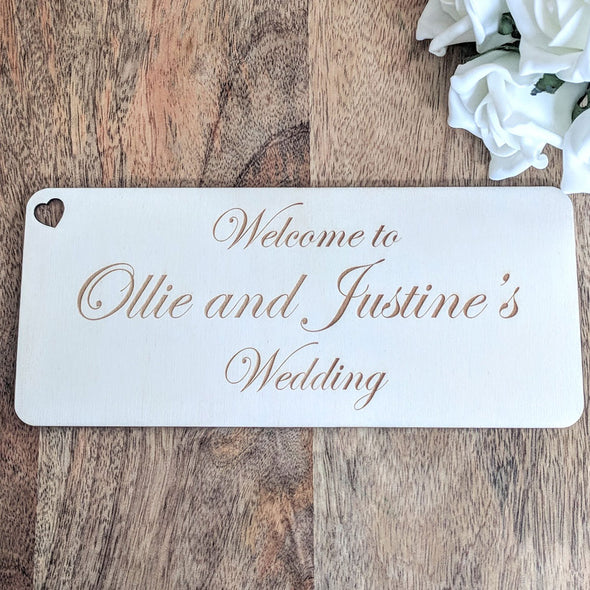 Personalised Wooden Wedding Sign - Plaque 2