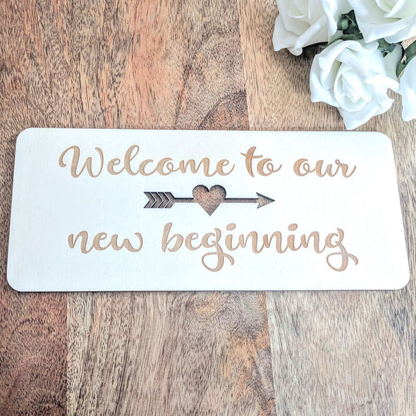 Personalised Wooden Wedding Sign - Plaque 3