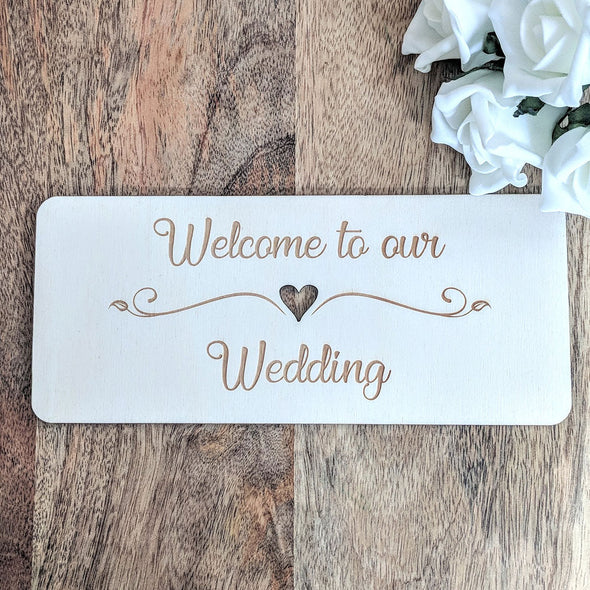 Personalised Wooden Wedding Sign - Plaque 4