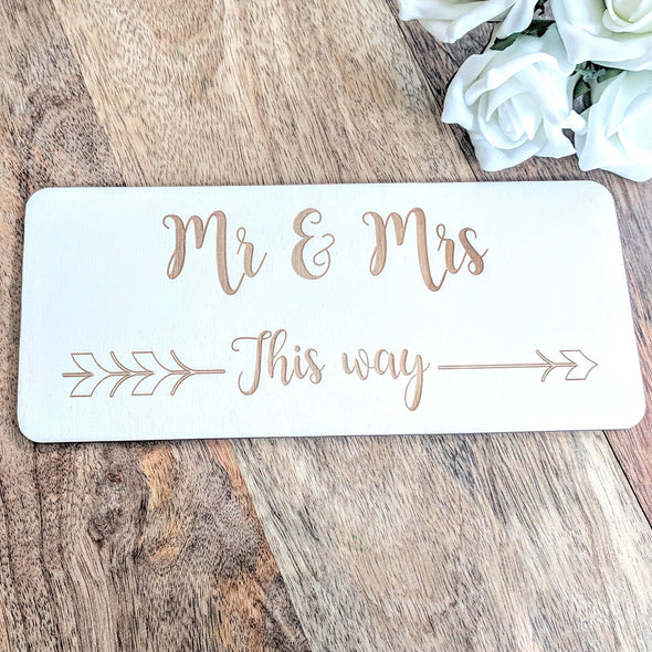 Personalised Wooden Wedding Sign - Plaque 5