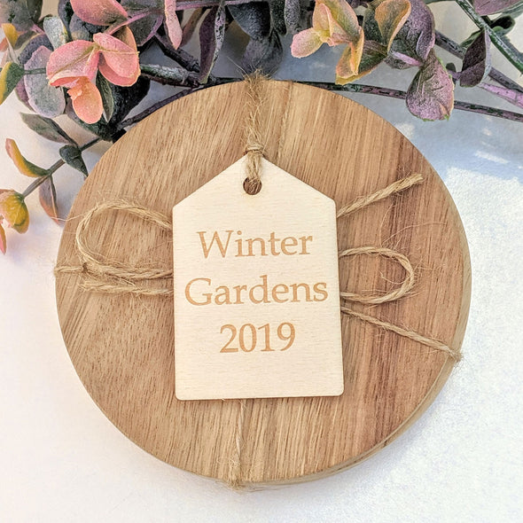 Personalised Wooden Pointed Gift Tag
