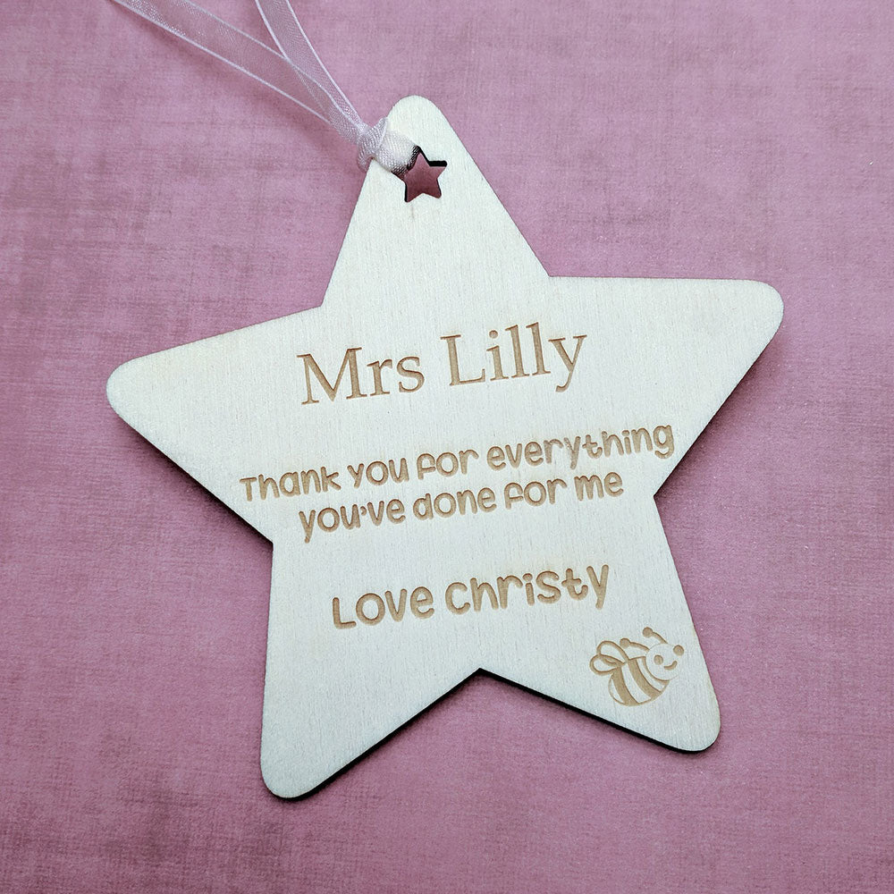 Thank You Teacher Star Gift Tag