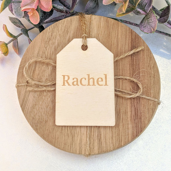 Personalised Wooden Tapered Gift Tag