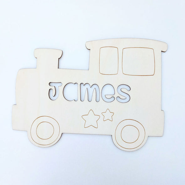 Personalised Wooden Bedroom Sign - Train