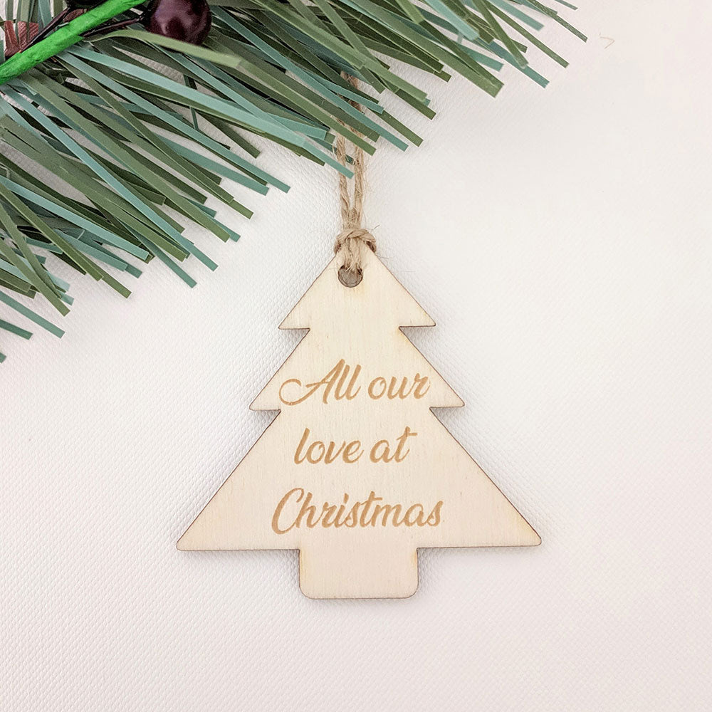 Tree Christmas Gift Tag