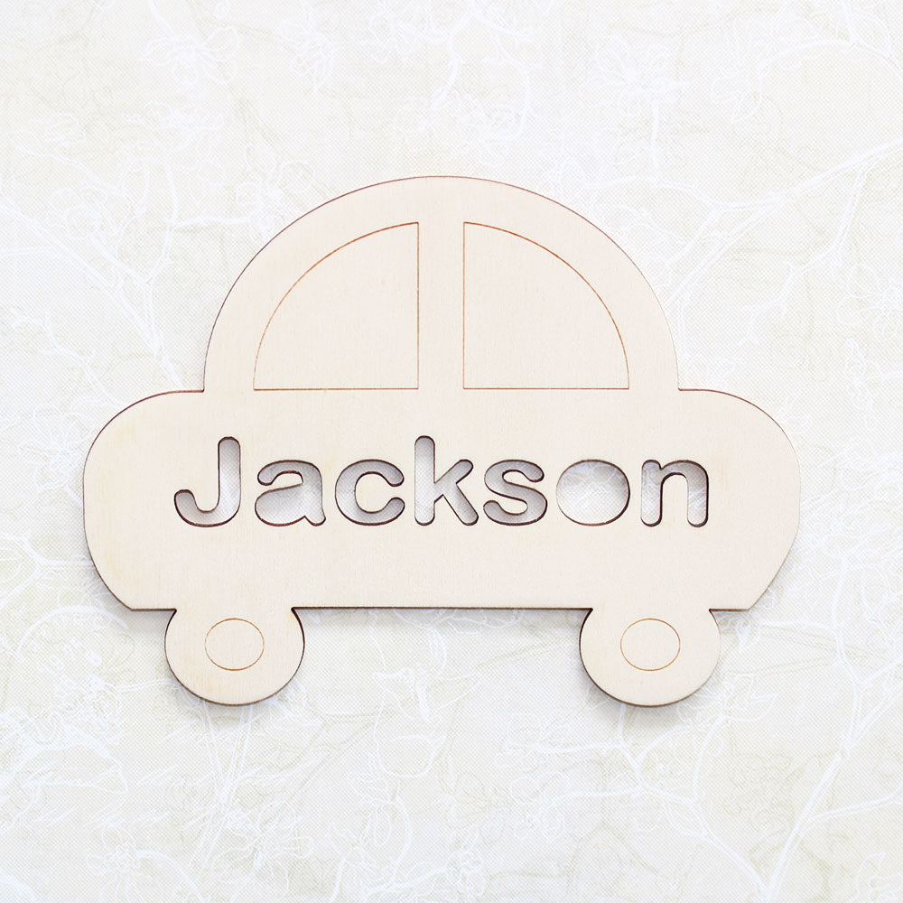 Personalised Wooden Car Bedroom Sign