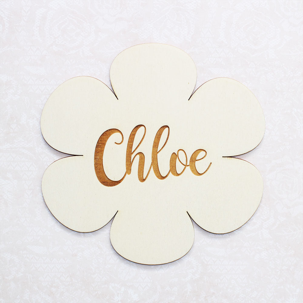 Personalised Wooden Flower Bedroom Sign