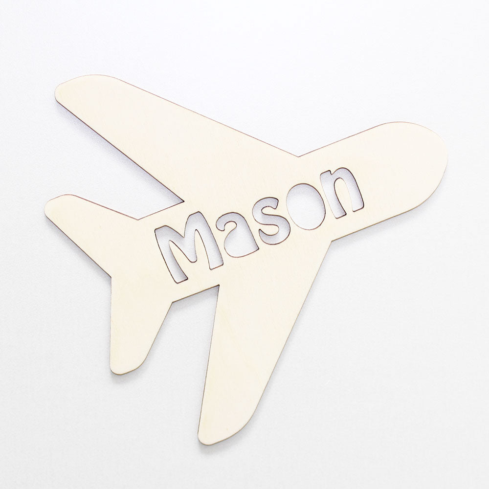 Personalised Wooden Aeroplane Bedroom Sign