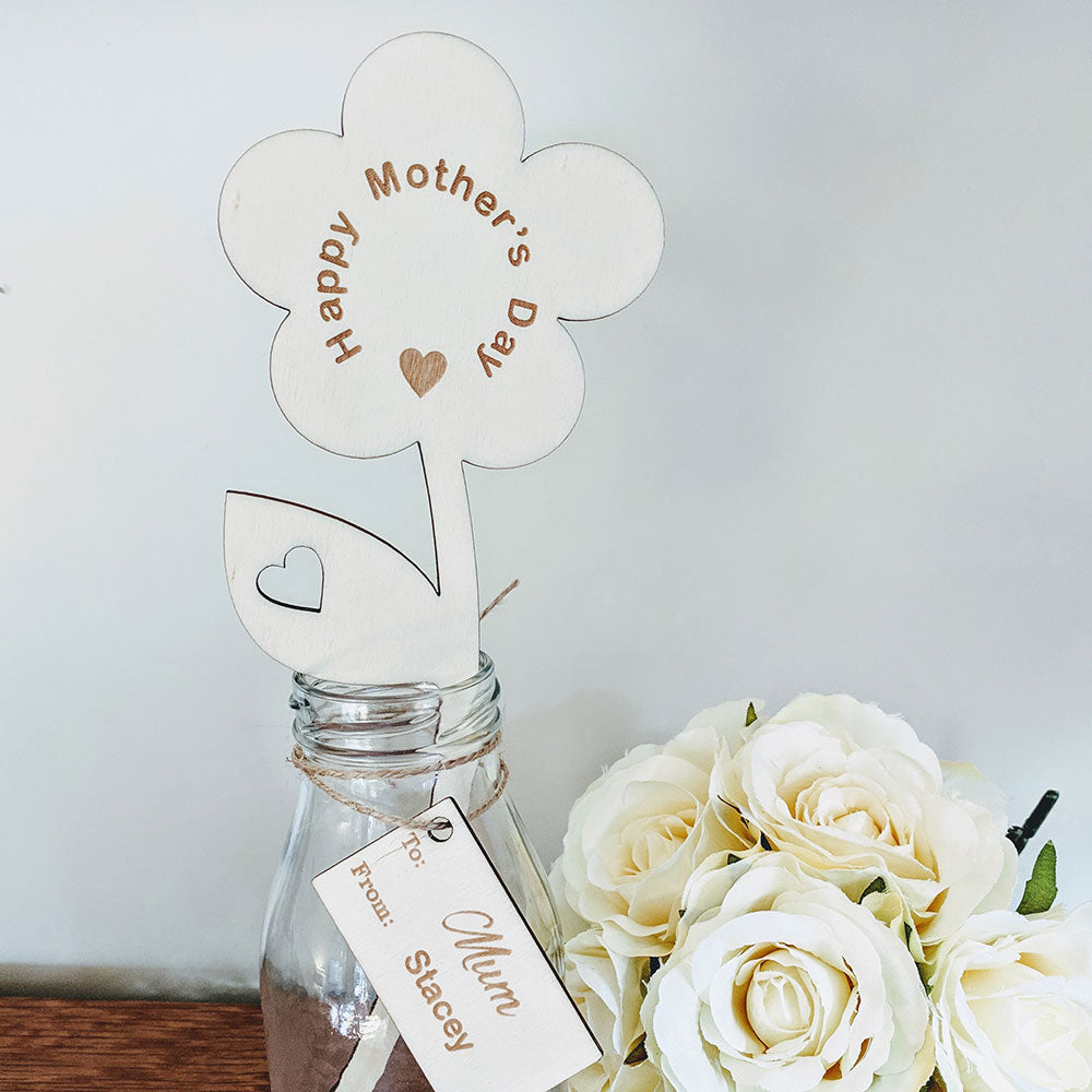 Happy Mother's Day Wooden Flower