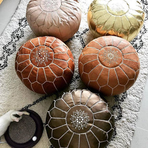 Handcrafted Moroccan Leather Pouf ~why it's needed for every single room ?