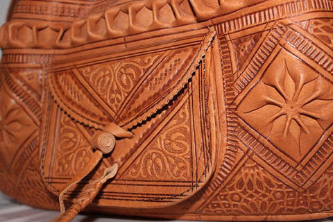 Moroccan Leather Bag -handcrafted