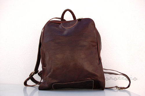 Leather backpack - GFM -giftsfrommorocco-morocco leather