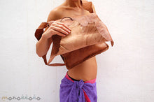 Woman leather bag Virgin with tusk closure. High quality. 30x35cm - GFM -giftsfrommorocco-morocco leather