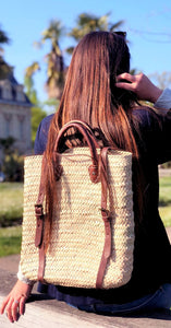 GFM | The Magic Palm Backpack - GFM -giftsfrommorocco-morocco leather