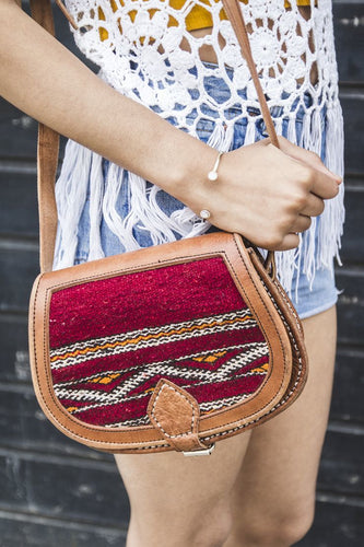 Vintage bag, kilim bags, kilim purse - GFM -giftsfrommorocco-morocco leather