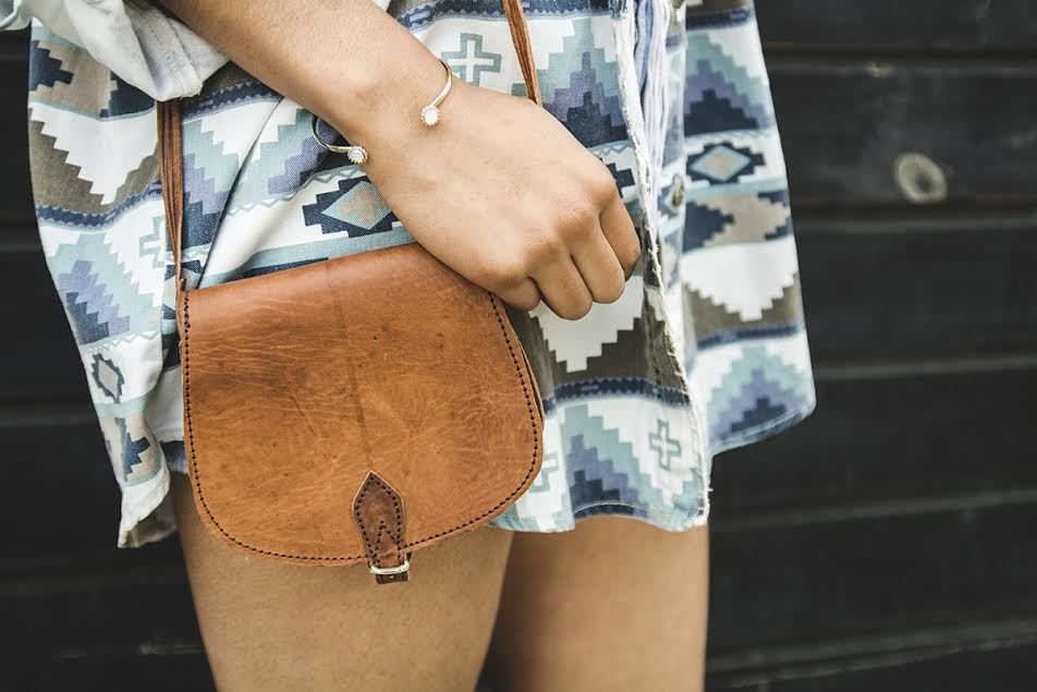 Mini Saddle Bag - GFM -giftsfrommorocco-morocco leather