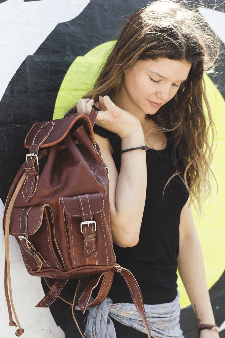 Boho crossbody bag - GFM -giftsfrommorocco-morocco leather