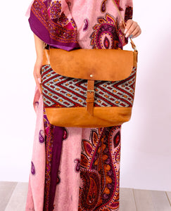GFM | Kilim Shoulder bag - GFM -giftsfrommorocco-morocco leather