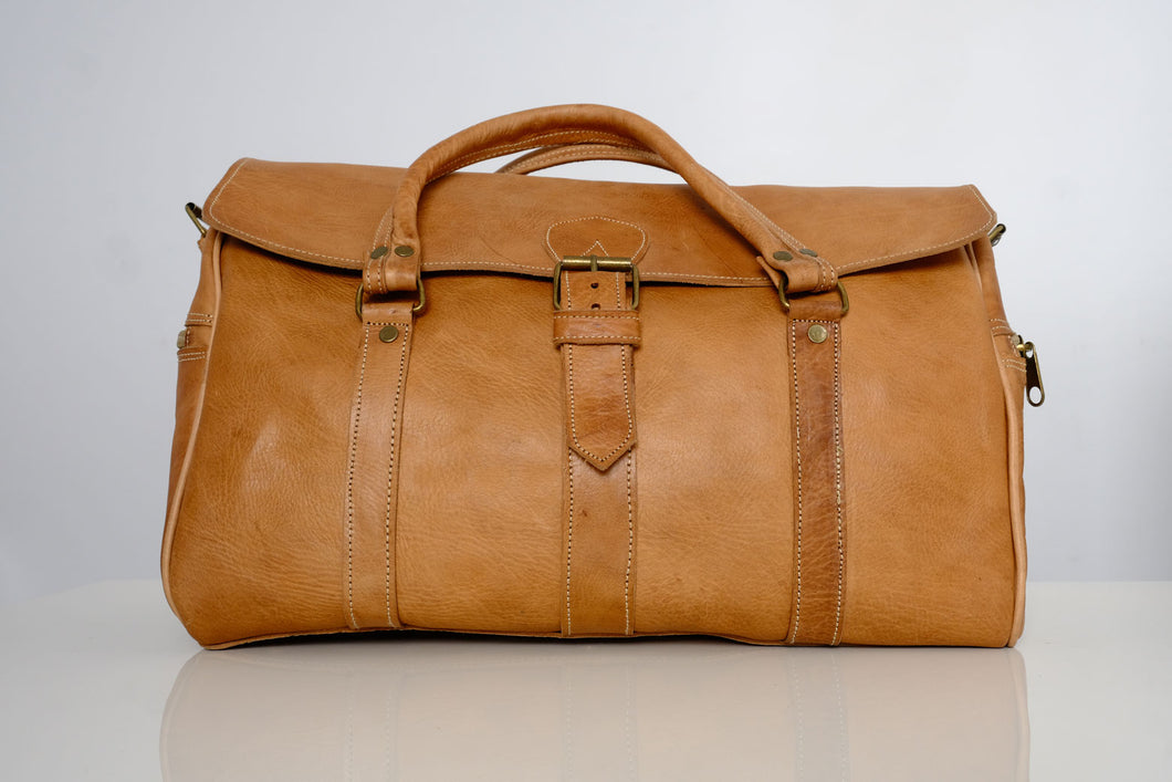 Naturel Moroccan travel bags - GFM -giftsfrommorocco-morocco leather