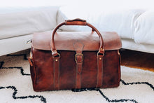 Classic travel bag - GFM -giftsfrommorocco-morocco leather