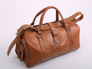 Leather Weekender Bag - GFM -giftsfrommorocco-morocco leather