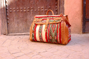 Unique Travel  bag - GFM -giftsfrommorocco-morocco leather