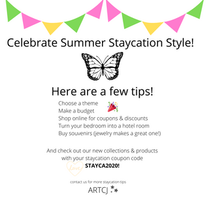 Poster - Tips for Creating You Summer Staycation!