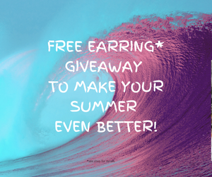 Text - Summer Special Gift - Free Pair of Earrings