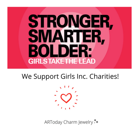 ar today charm jewelry supports Girls Inc.