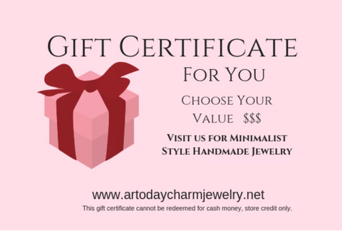 ar today charm jewelry gift certificate