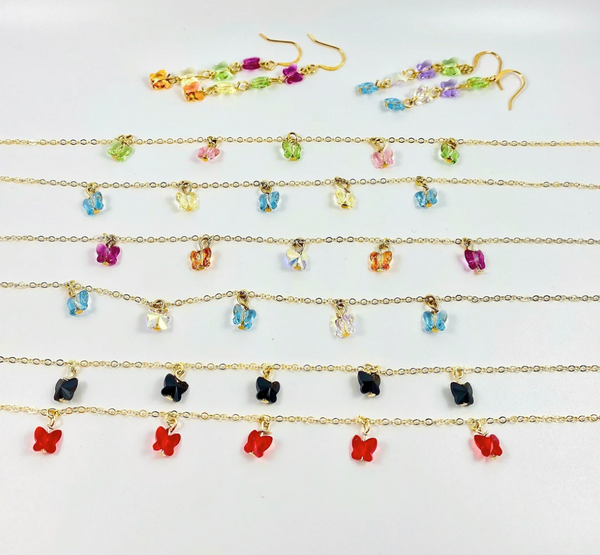 butterfly choker necklaces