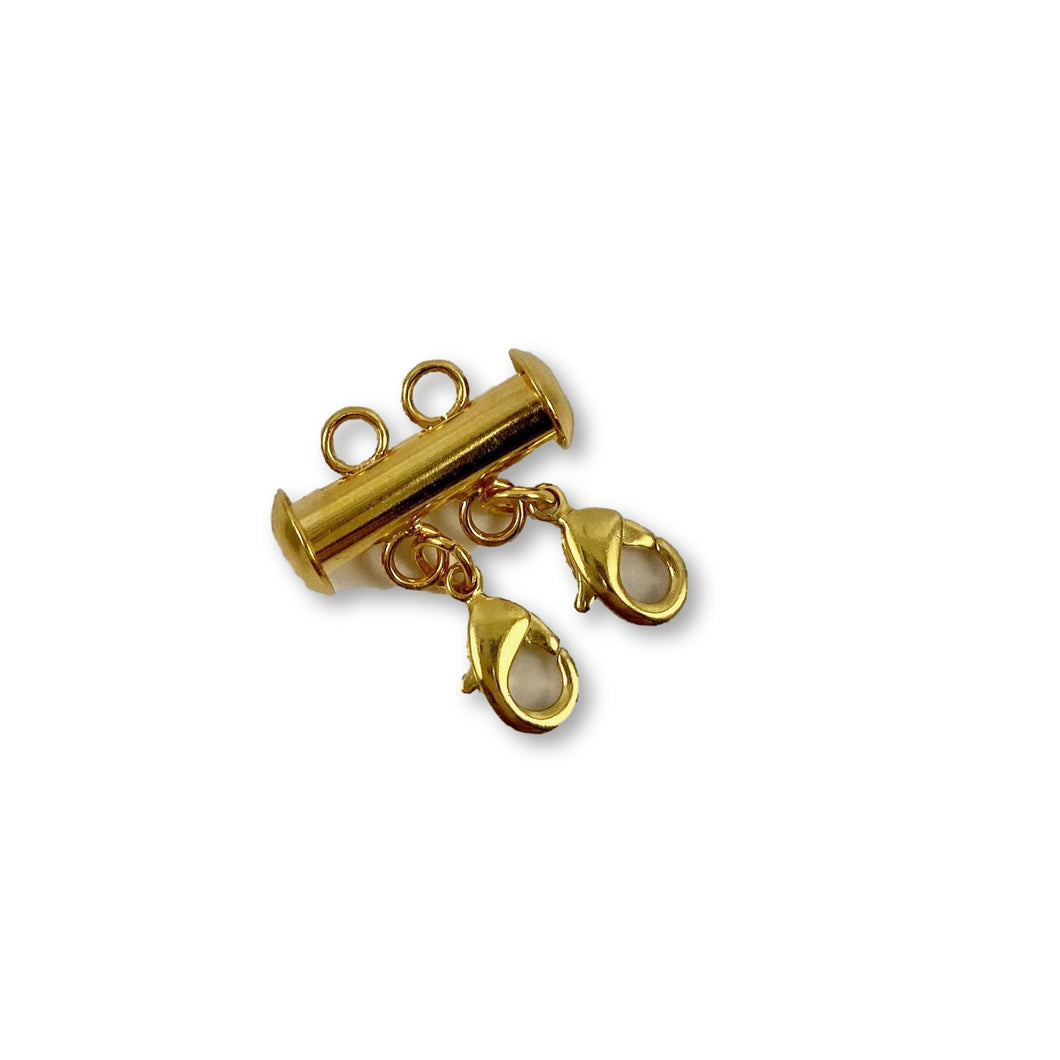 Gold Necklace Spacer Tube for Layering 2 Necklaces - AR TodayCharm Jewelry Company