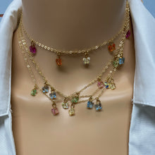 Load image into Gallery viewer, Gold Necklace Spacer Tube for Layering 4 Necklaces - AR TodayCharm Jewelry Company