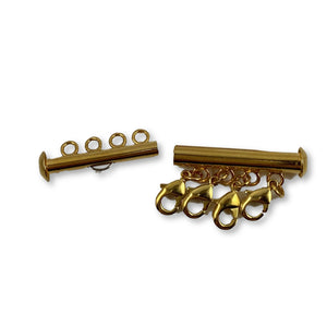 Gold Necklace Spacer Tube for Layering 4 Necklaces - AR TodayCharm Jewelry Company