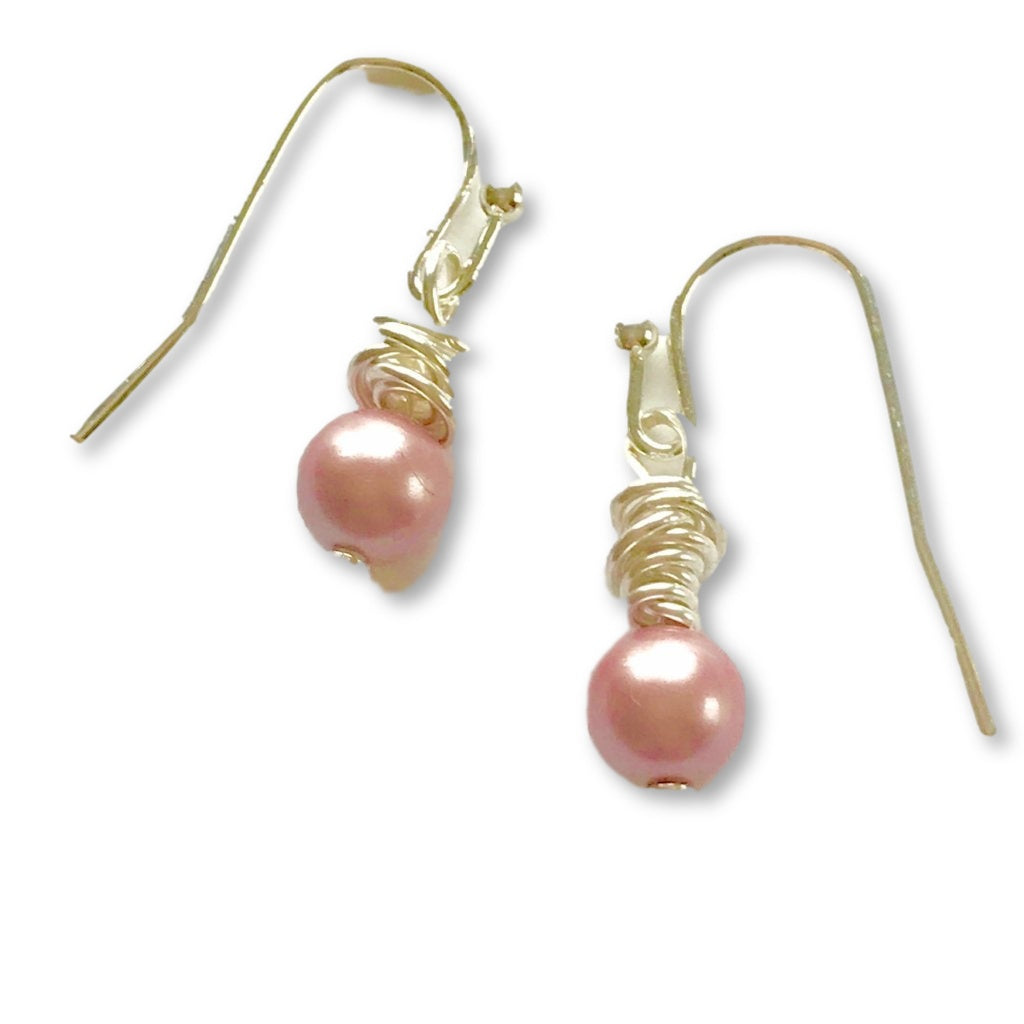 Claudette Pink Pearl Earrings - AR TodayCharm Jewelry Company