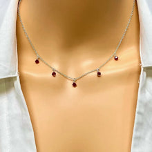 Load image into Gallery viewer, Ruby & Silver Cristal Choker Necklace - AR TodayCharm Jewelry Company