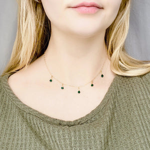 Emerald Cristal Choker Necklace - AR TodayCharm Jewelry Company