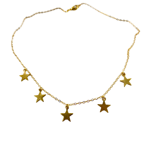 Gold Star Choker Necklace - AR TodayCharm Jewelry Company