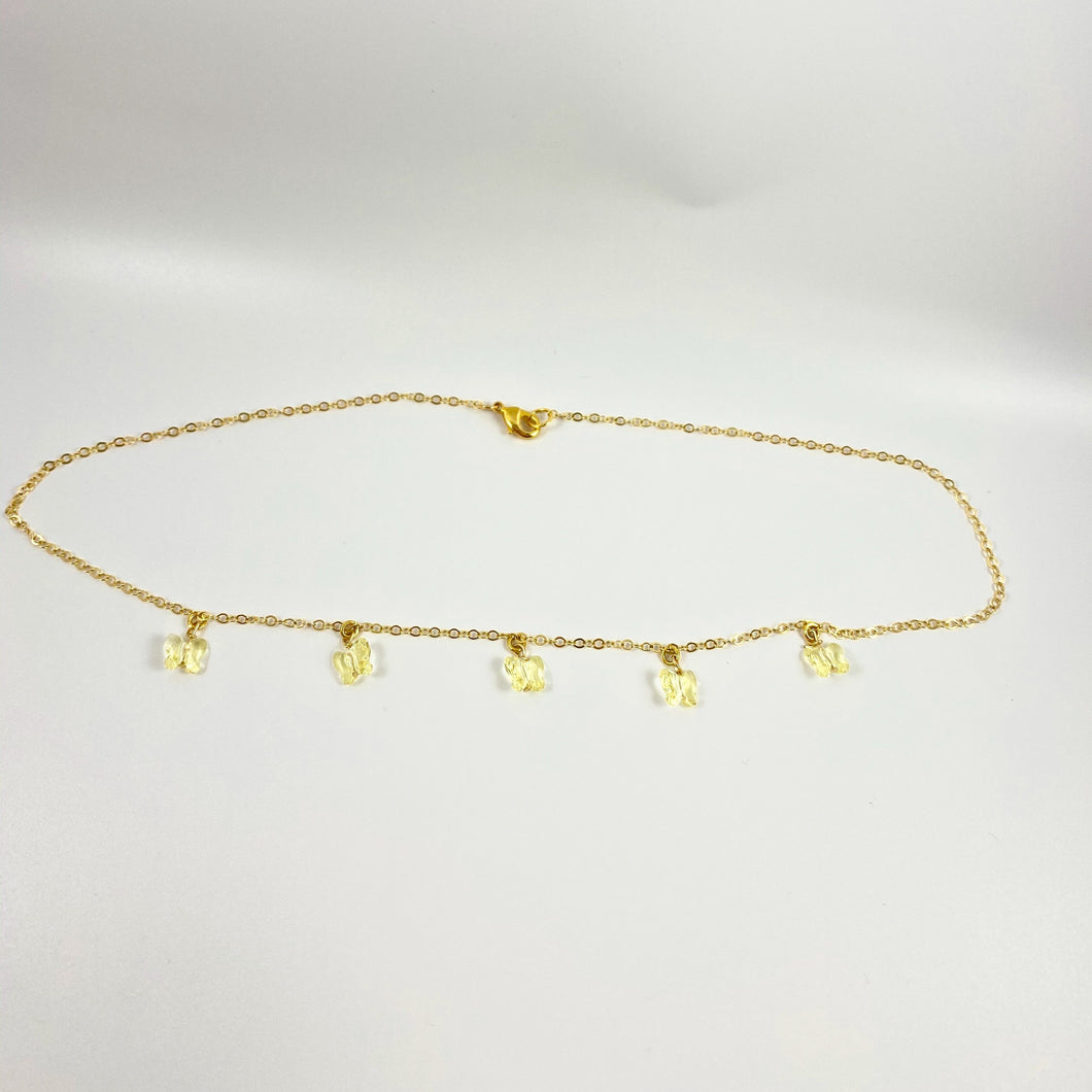 Yellow Butterfly Choker Necklace - AR TodayCharm Jewelry Company
