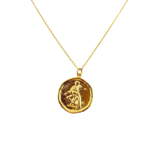 Load image into Gallery viewer, Aquarius Zodiac Medallion Disk Necklace - AR TodayCharm Jewelry Company