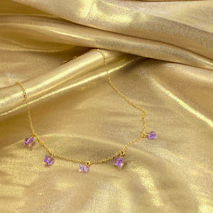 Violet Butterfly Choker Necklace