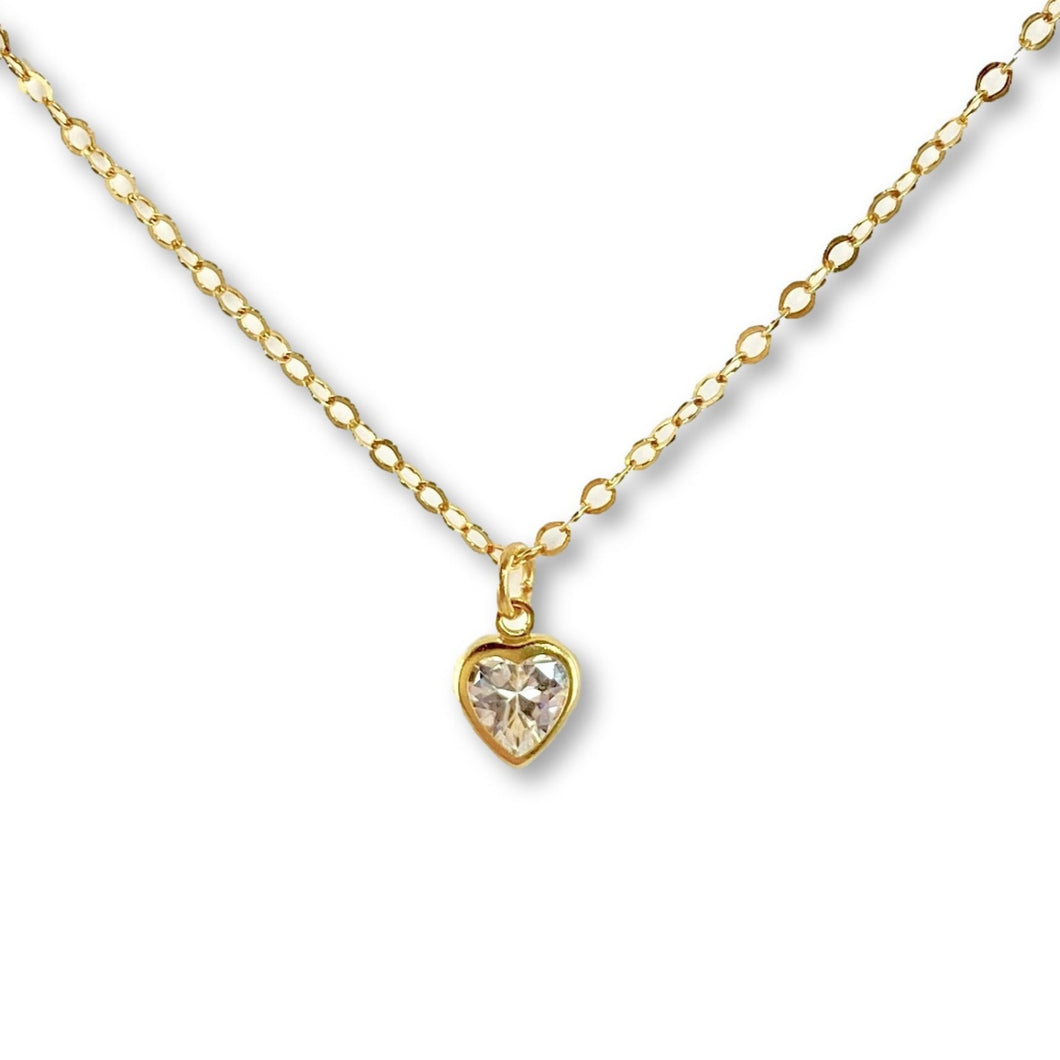Cubic Zirconia Heart Stone Necklace - AR TodayCharm Jewelry Company