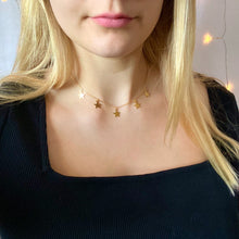 Load image into Gallery viewer, Gold Star Choker Necklace - AR TodayCharm Jewelry Company
