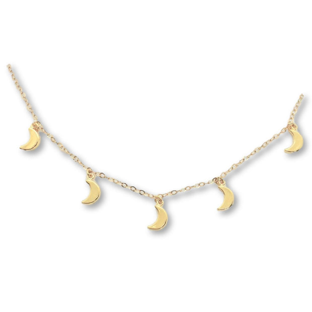 Cyra Moon Necklace, 14K Gold 1