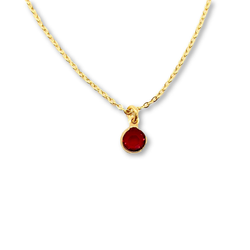 July Birthstone Necklace - AR TodayCharm Jewelry Company