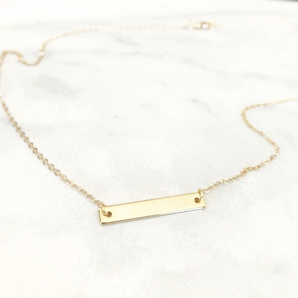 Midi Bar Necklace - AR TodayCharm Jewelry Company