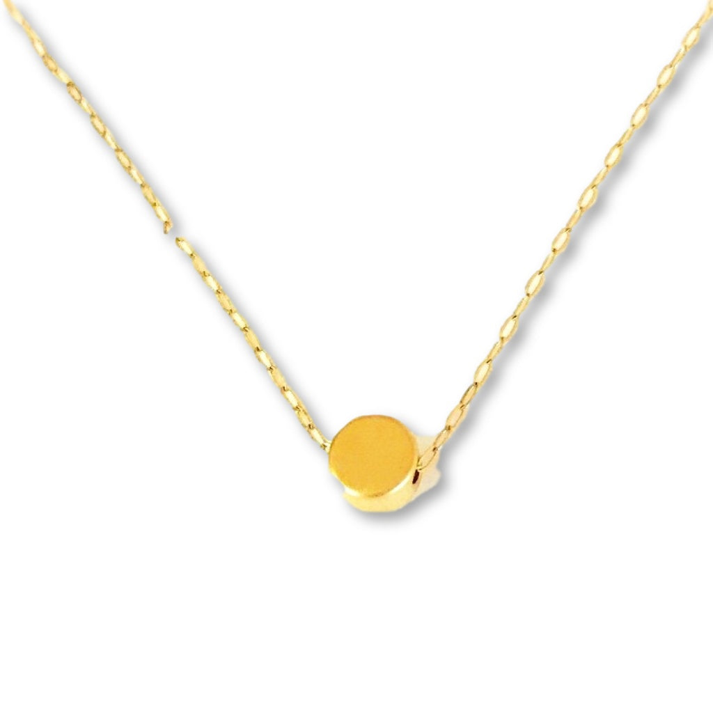 Tiny Gold Dot Necklace - AR TodayCharm Jewelry Company