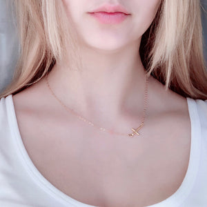 Trinity Sideways Cross Necklace - AR TodayCharm Jewelry Company