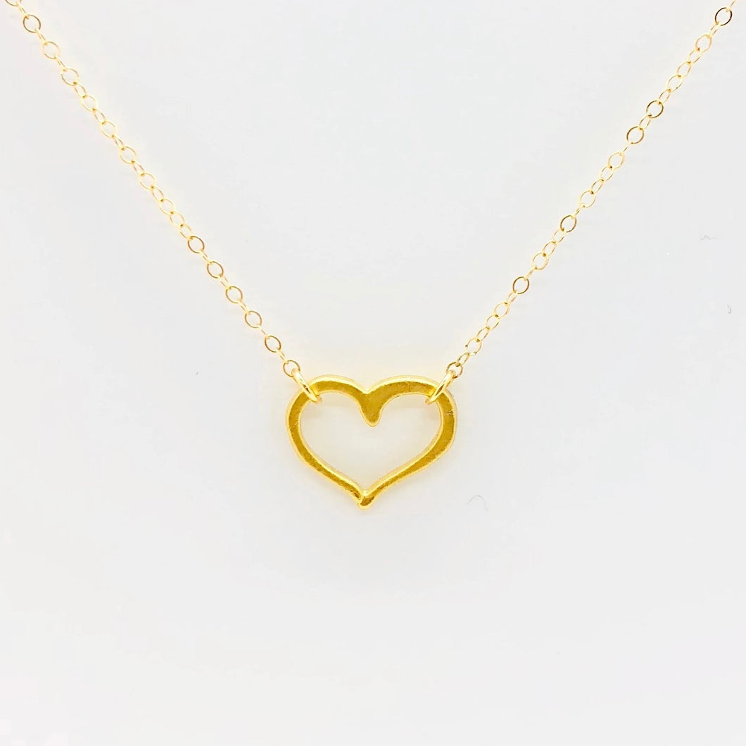 Heart Connector Necklace - AR TodayCharm Jewelry Company